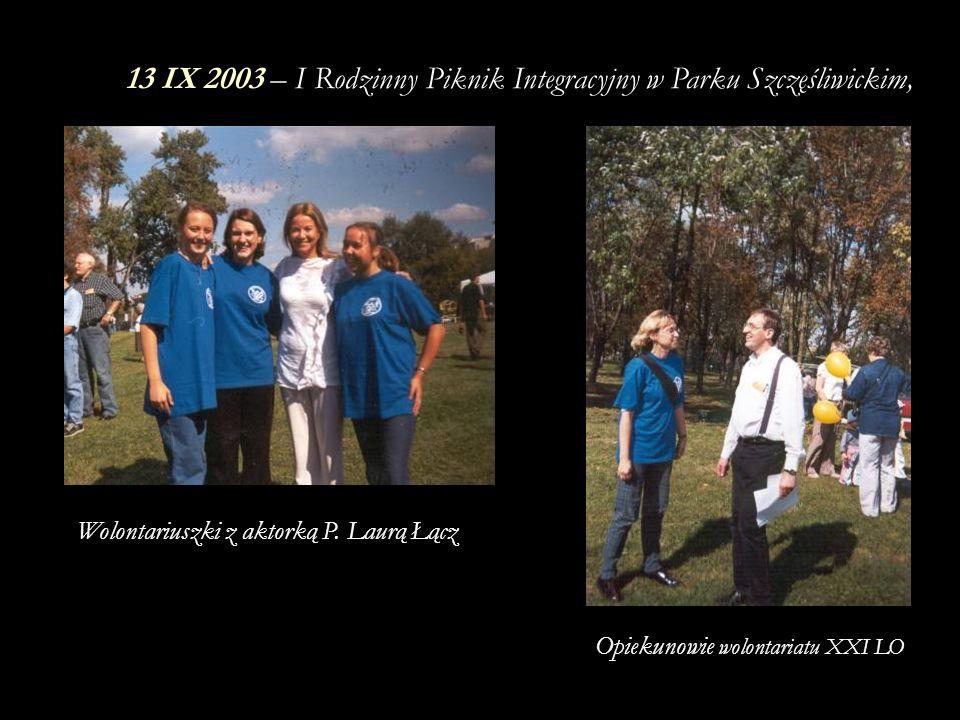 13 IX 2003 – I Rodzinny Piknik Integracyjny w Parku Szczęśliwickim,