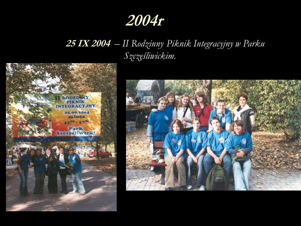 25 IX 2004 – II Rodzinny Piknik Integracyjny w Parku Szczęśliwickim.