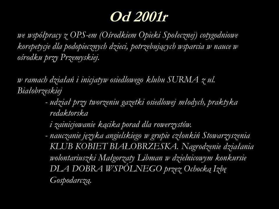Od 2001r