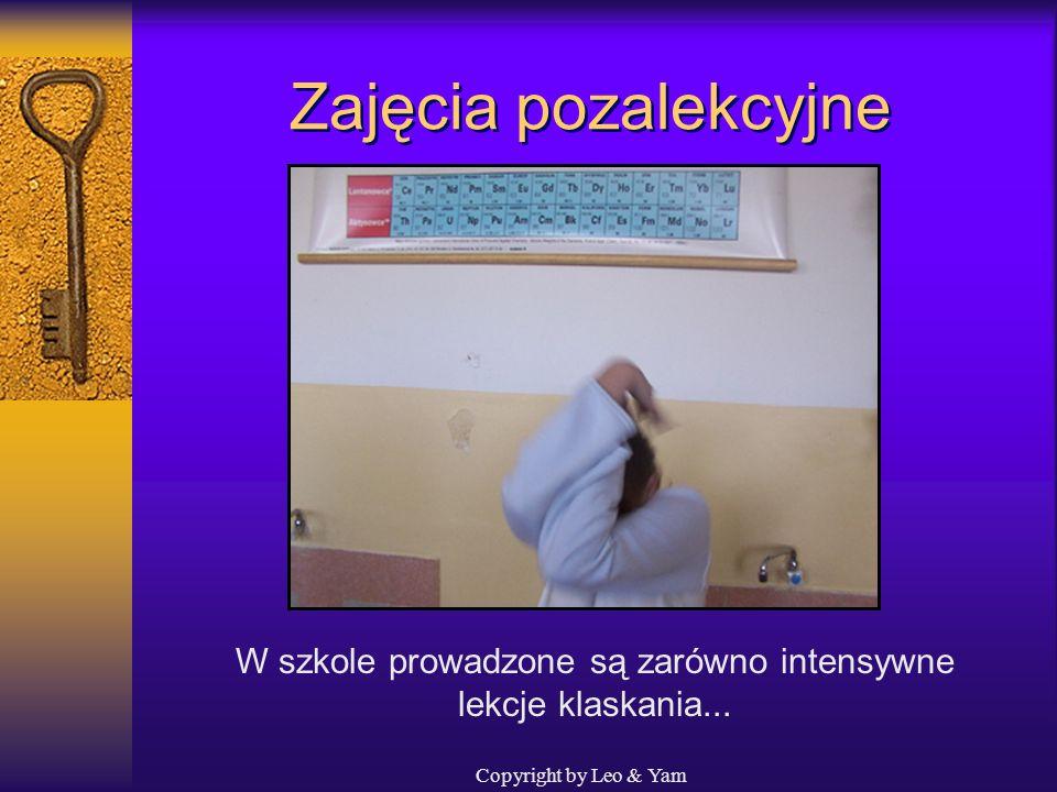 W szkole prowadzone są zarówno intensywne lekcje klaskania...