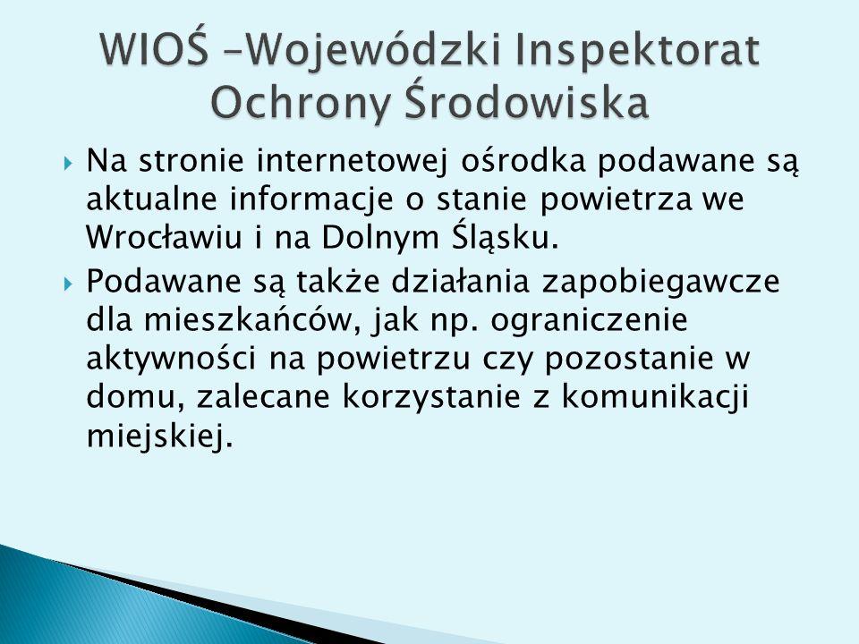 WIOŚ –Wojewódzki Inspektorat Ochrony Środowiska