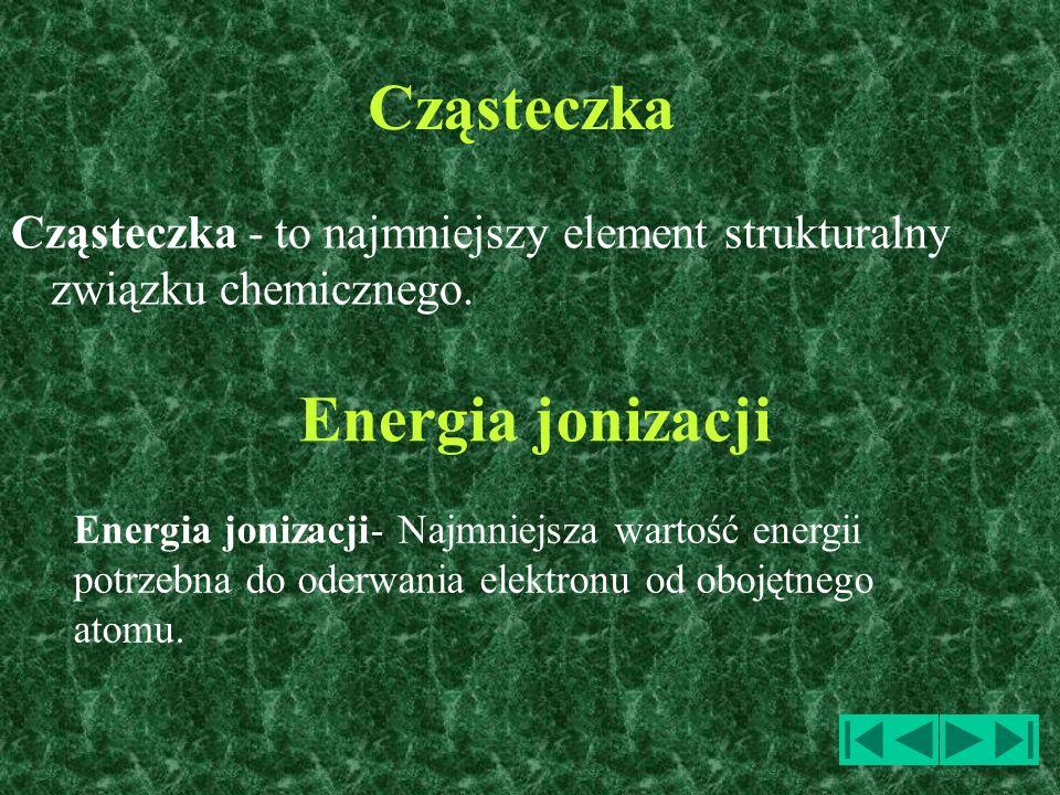 Cząsteczka Energia jonizacji