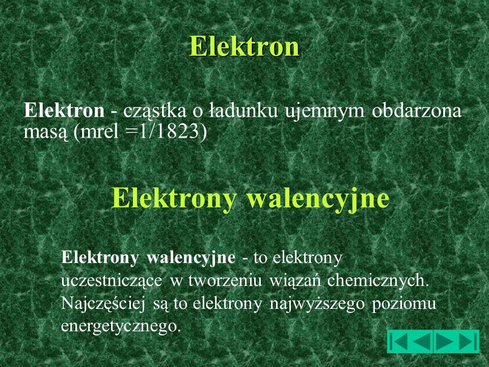 Elektron Elektrony walencyjne