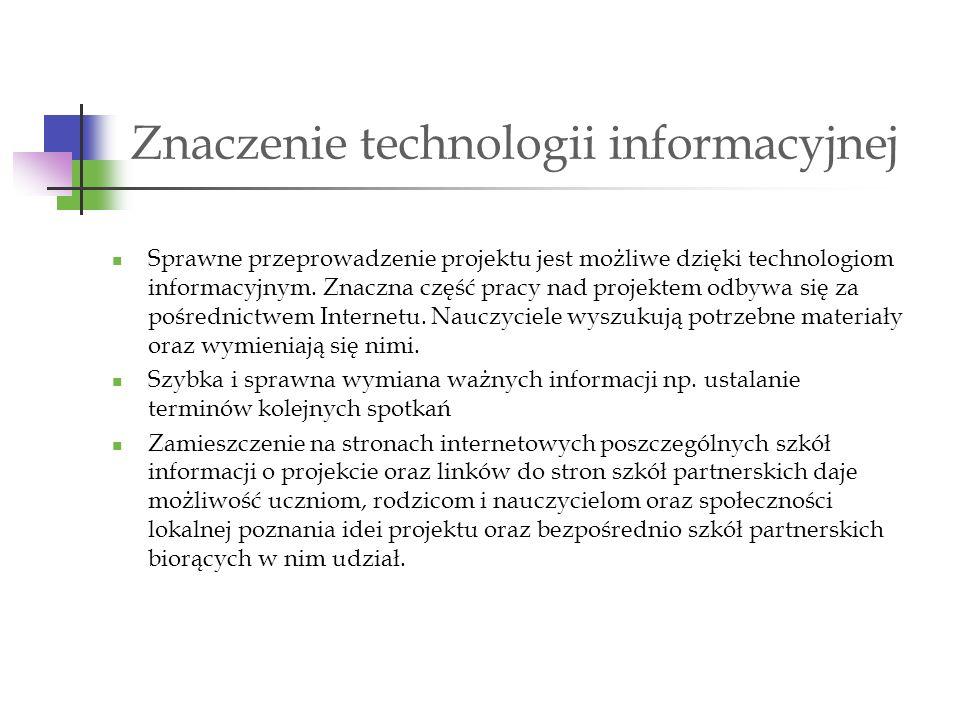 Znaczenie technologii informacyjnej
