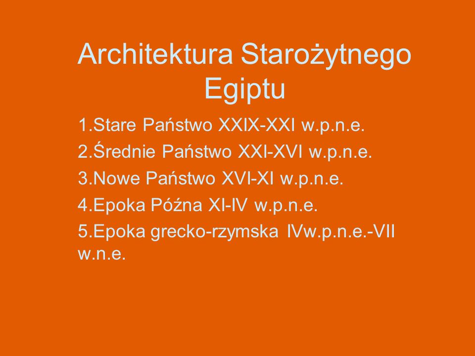 Architektura Starożytnego Egiptu