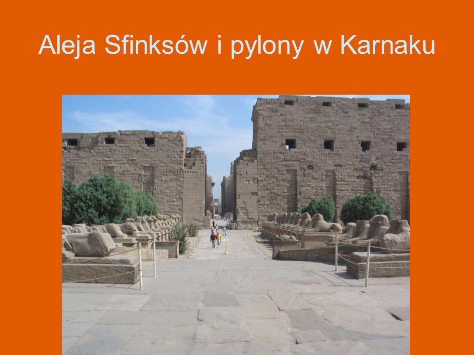 Aleja Sfinksów i pylony w Karnaku