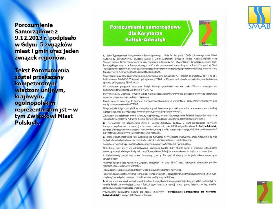 Porozumienie Samorządowe z 9. 12. 2013 r