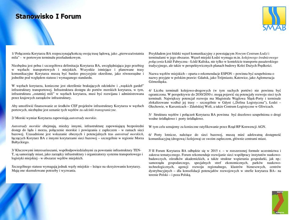 Stanowisko I Forum