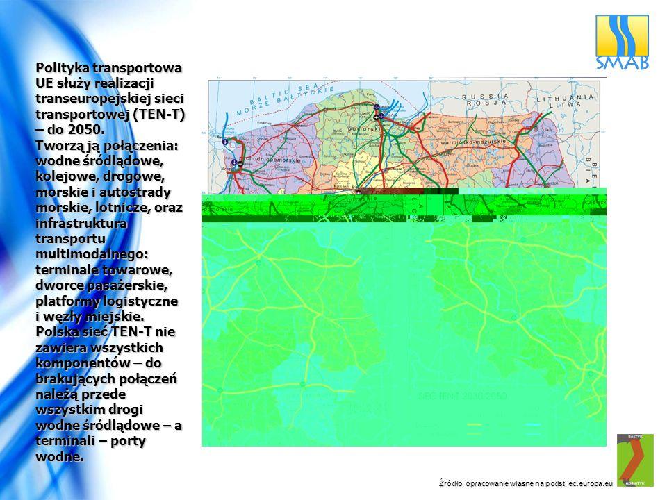 Polityka transportowa UE służy realizacji transeuropejskiej sieci transportowej (TEN-T) – do 2050.