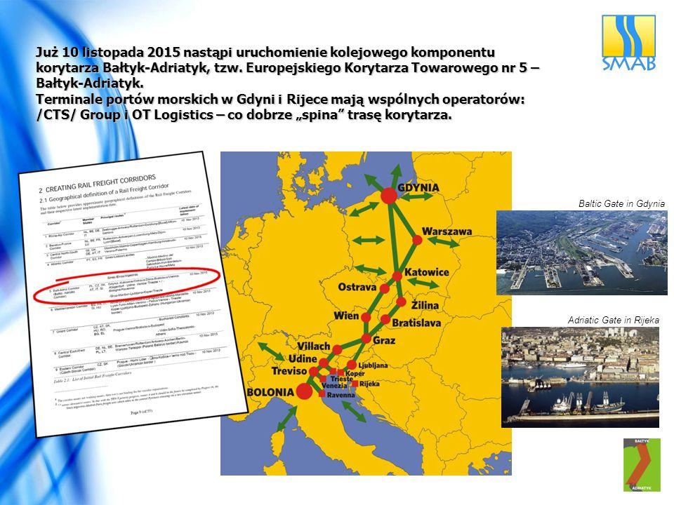 Terminale portów morskich w Gdyni i Rijece mają wspólnych operatorów: