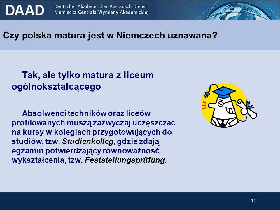 Czy polska matura jest w Niemczech uznawana