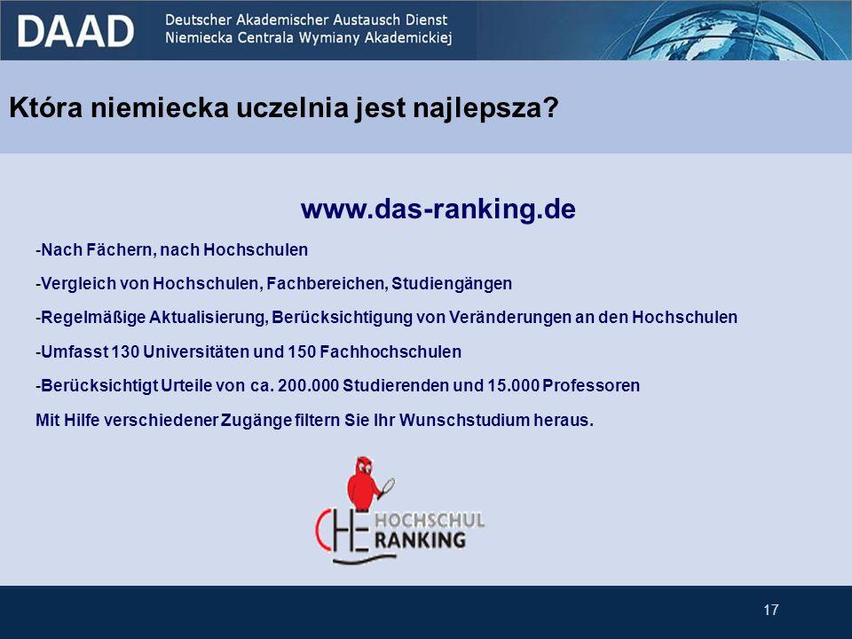 Która niemiecka uczelnia jest najlepsza