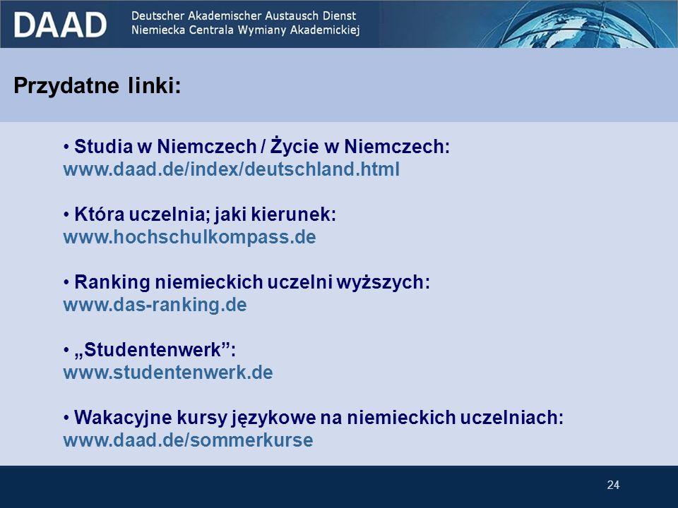 Przydatne linki: Studia w Niemczech / Życie w Niemczech:
