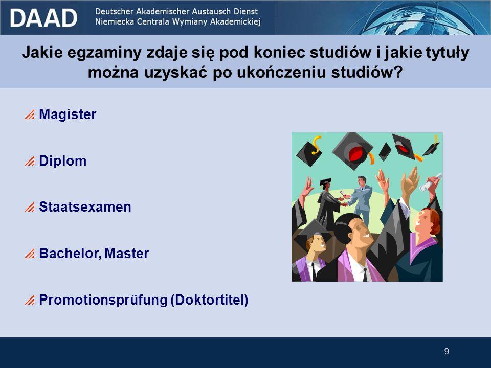 Jakie egzaminy zdaje się pod koniec studiów i jakie tytuły można uzyskać po ukończeniu studiów