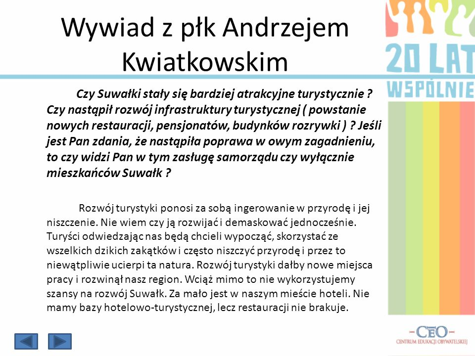Wywiad z płk Andrzejem Kwiatkowskim