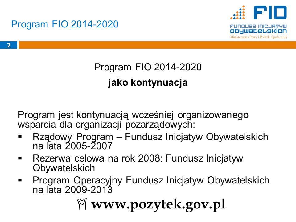 Program FIO 2014-2020 jako kontynuacja
