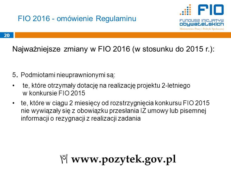 FIO 2016 - omówienie Regulaminu