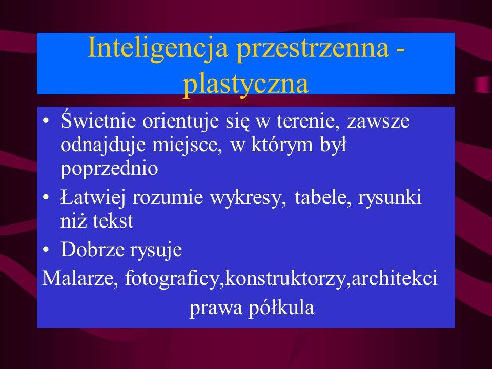 Inteligencja przestrzenna -plastyczna