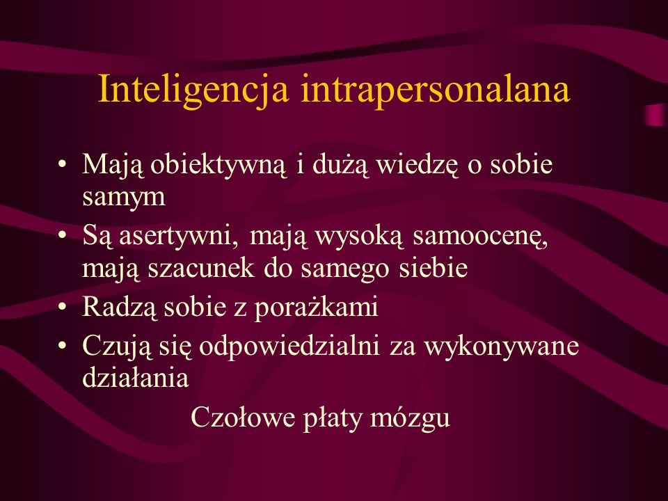 Inteligencja intrapersonalana