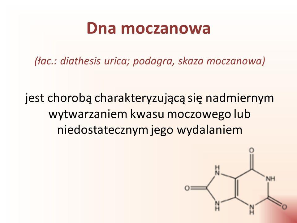(łac.: diathesis urica; podagra, skaza moczanowa)