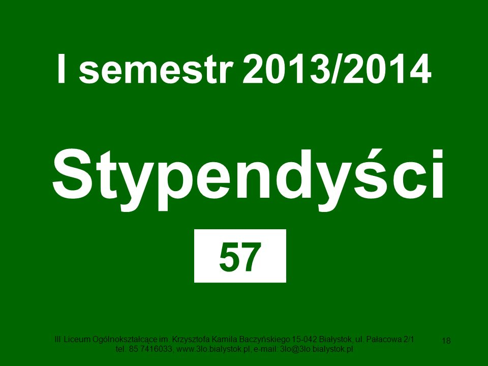 Stypendyści I semestr 2013/2014 57