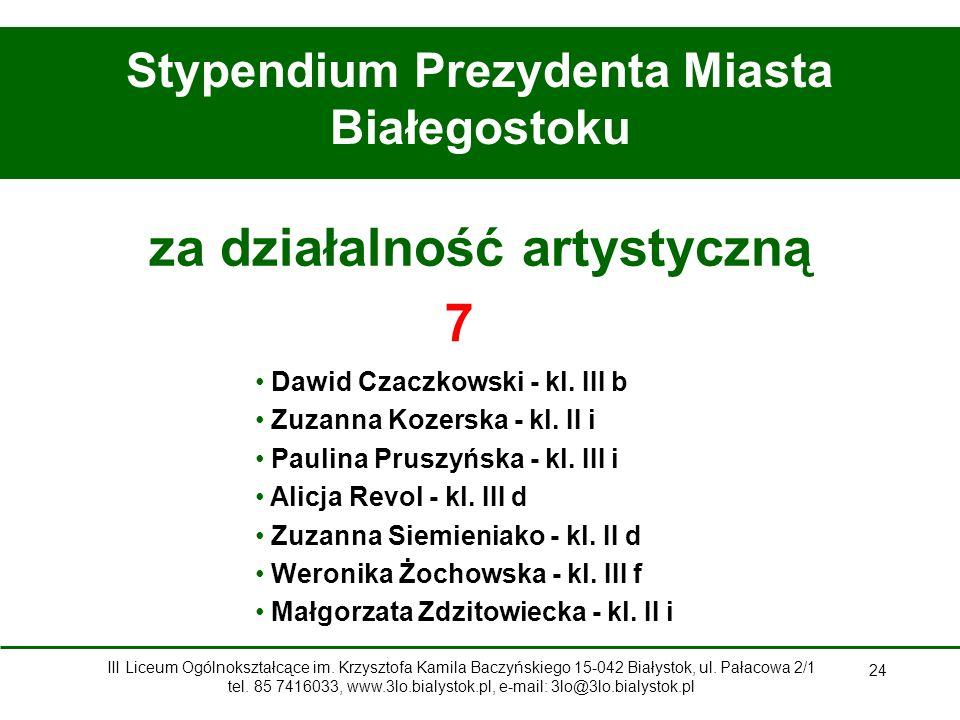 Stypendium Prezydenta Miasta Białegostoku za działalność artystyczną