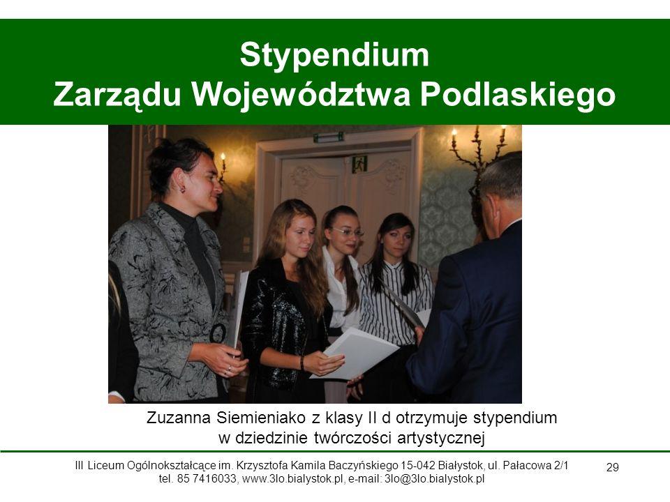 Stypendium Zarządu Województwa Podlaskiego