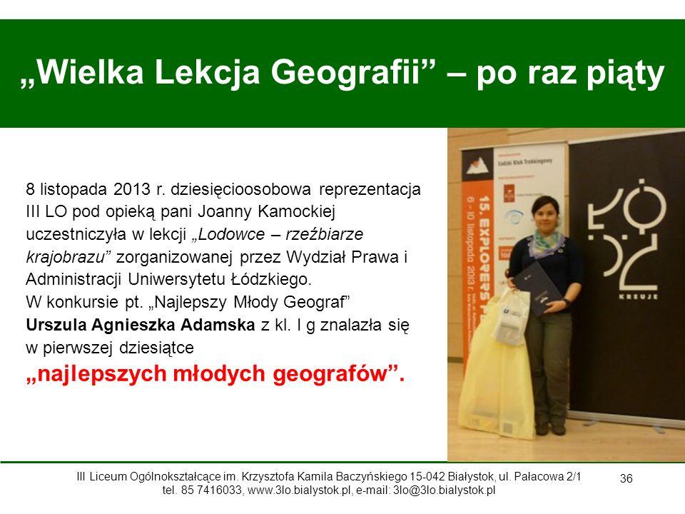 """""""Wielka Lekcja Geografii – po raz piąty"""