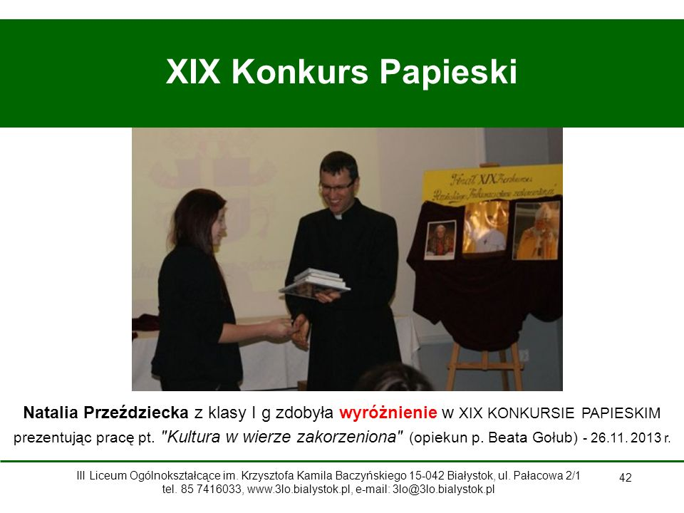 XIX Konkurs Papieski