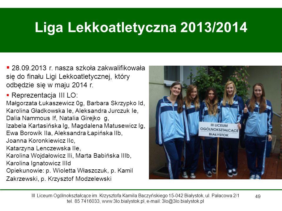 Liga Lekkoatletyczna 2013/2014