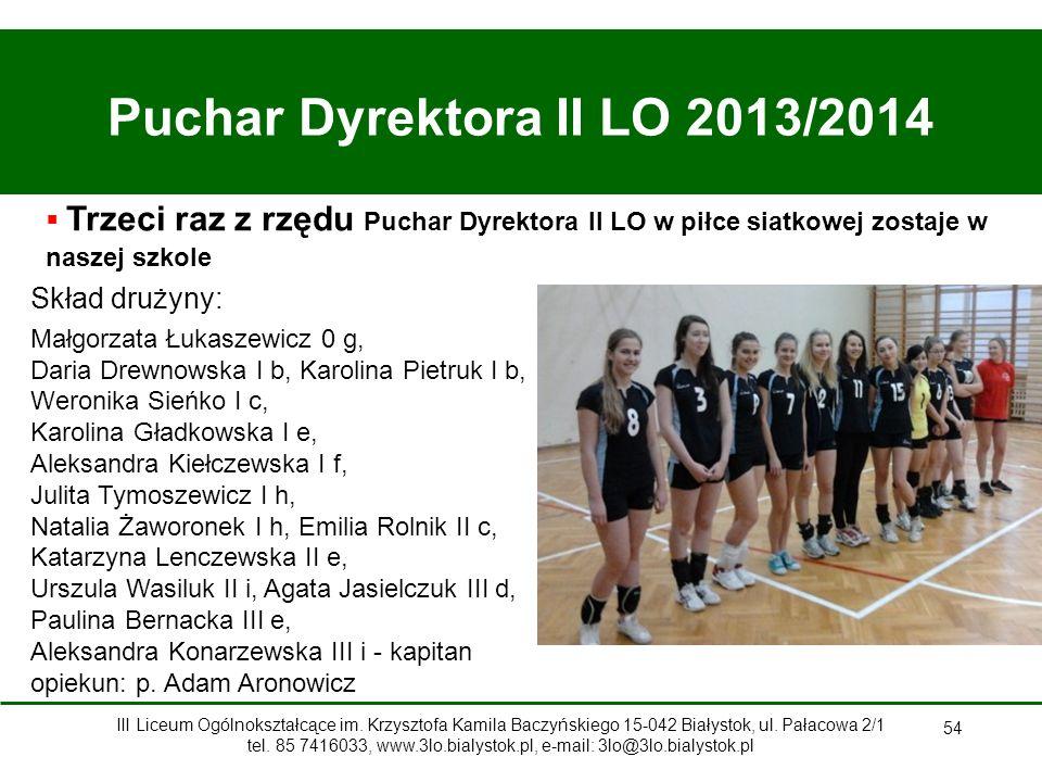 Puchar Dyrektora II LO 2013/2014