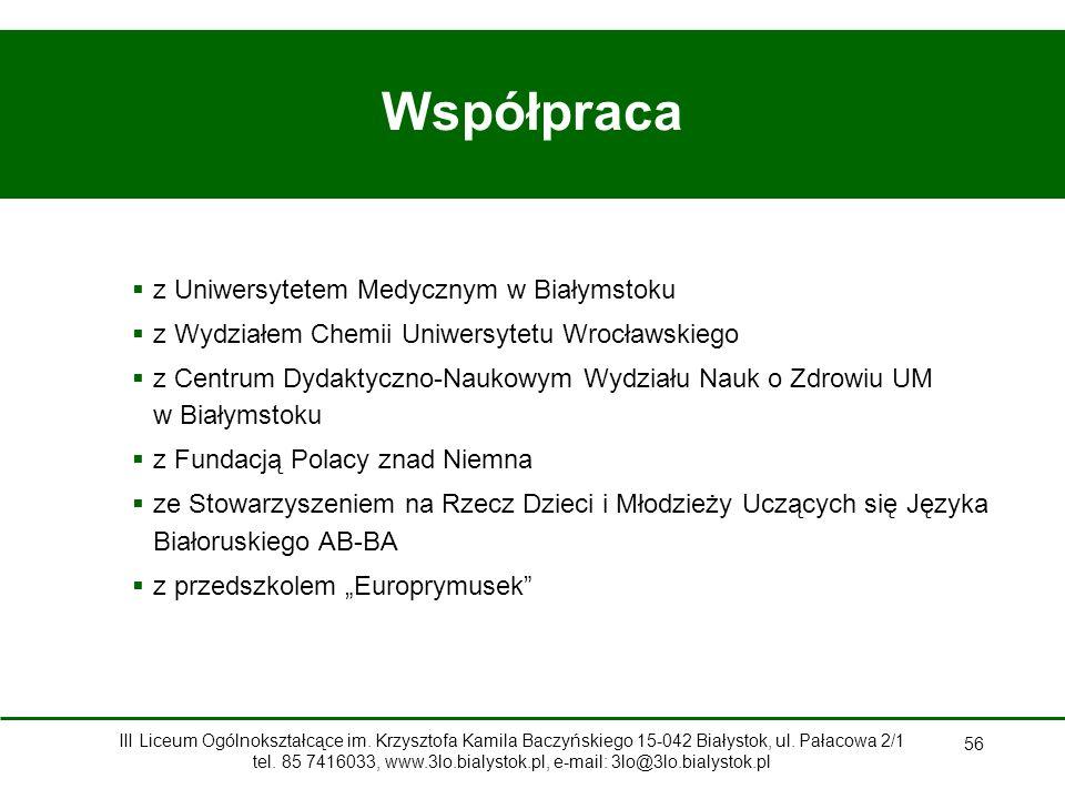 Współpraca z Uniwersytetem Medycznym w Białymstoku