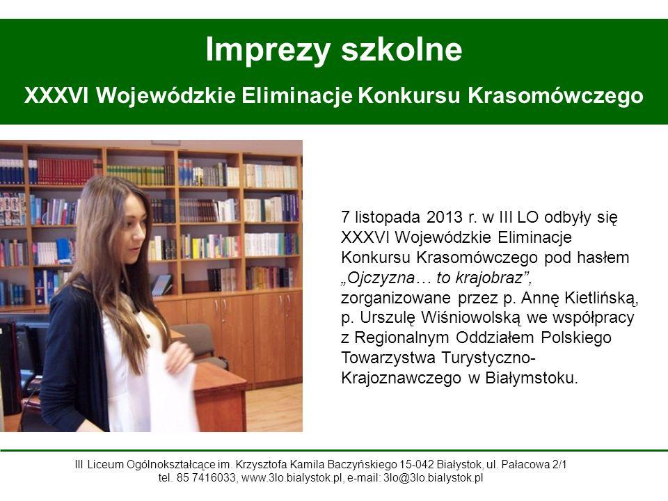 XXXVI Wojewódzkie Eliminacje Konkursu Krasomówczego