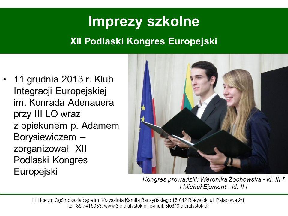 XII Podlaski Kongres Europejski