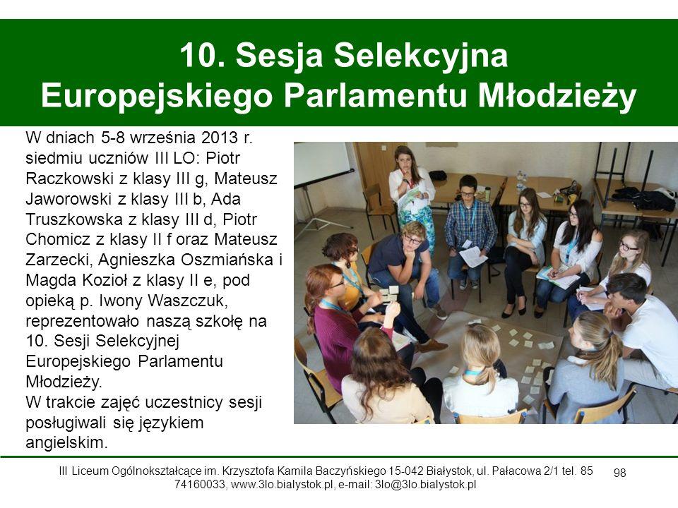 10. Sesja Selekcyjna Europejskiego Parlamentu Młodzieży