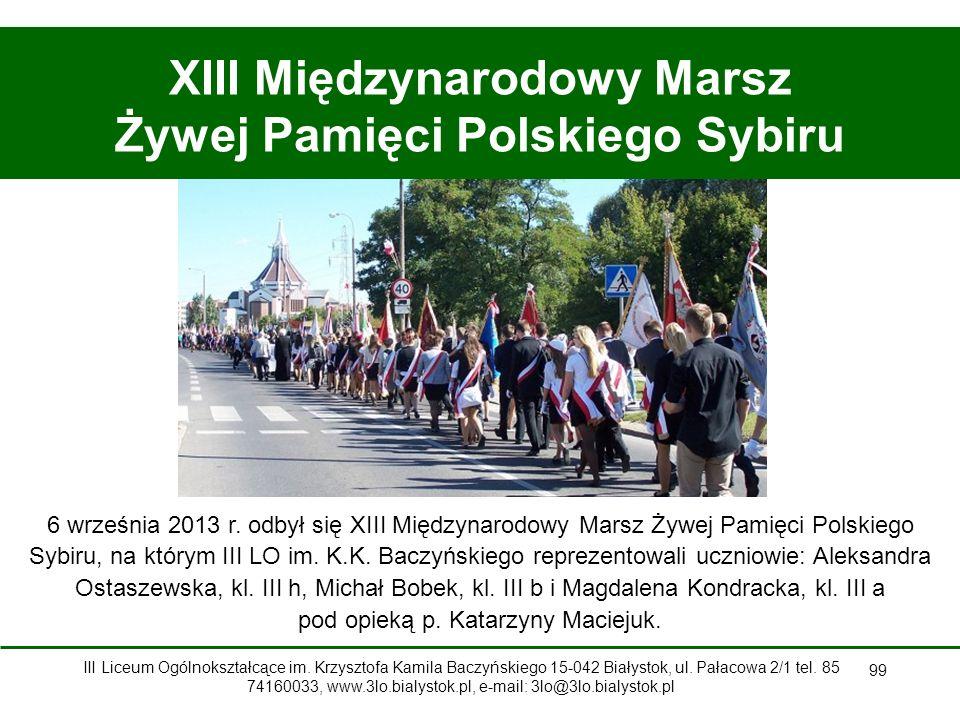 XIII Międzynarodowy Marsz Żywej Pamięci Polskiego Sybiru
