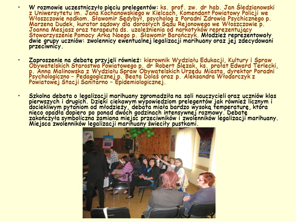 W rozmowie uczestniczyło pięciu prelegentów: ks. prof. zw. dr hab