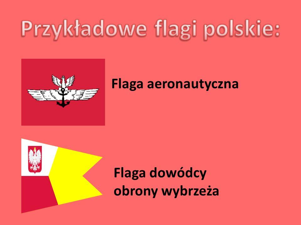 Przykładowe flagi polskie: