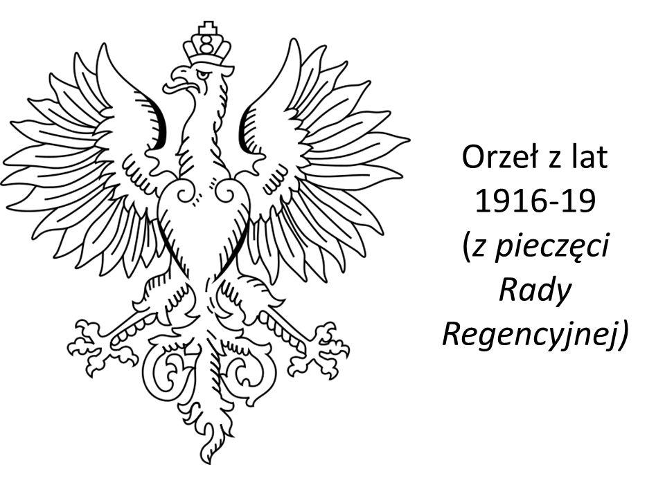 Orzeł z lat 1916-19 (z pieczęci Rady Regencyjnej)