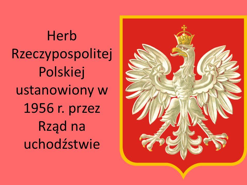 Herb Rzeczypospolitej Polskiej ustanowiony w 1956 r