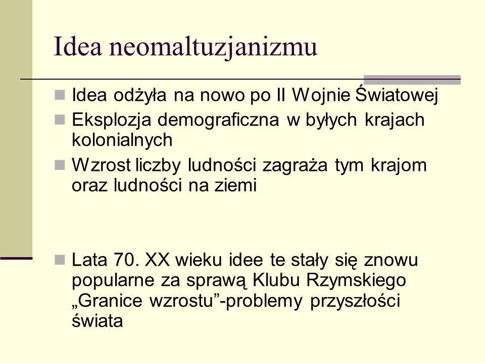 Idea neomaltuzjanizmu