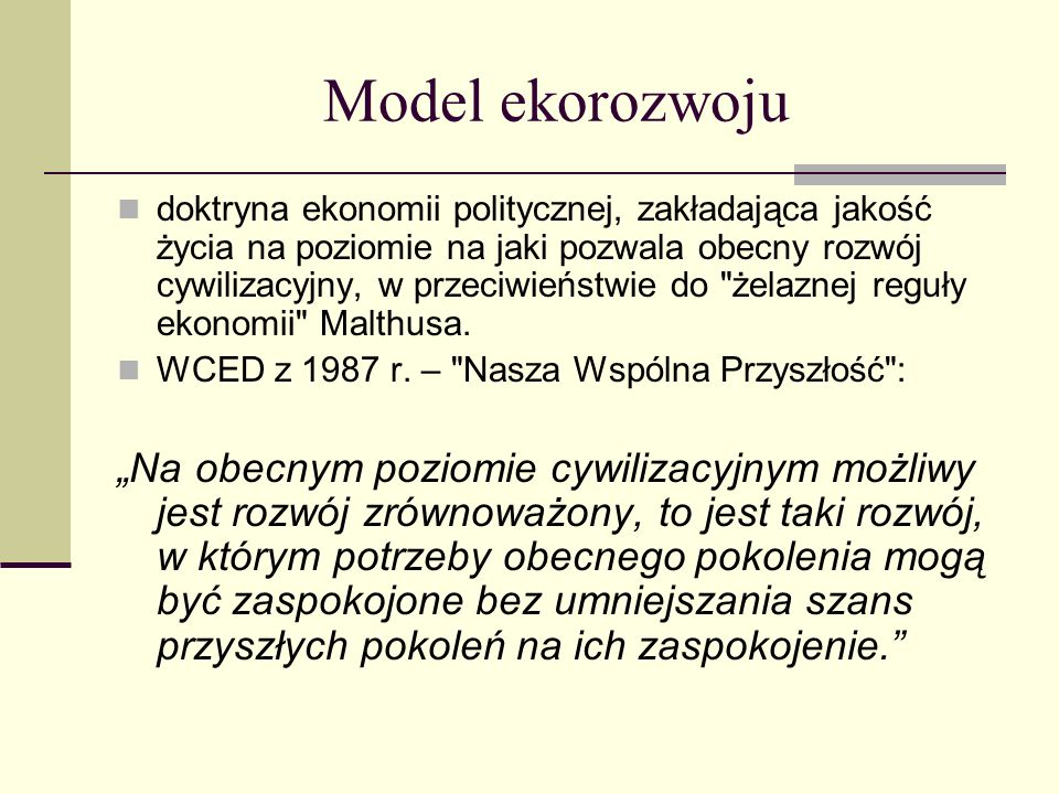 Model ekorozwoju