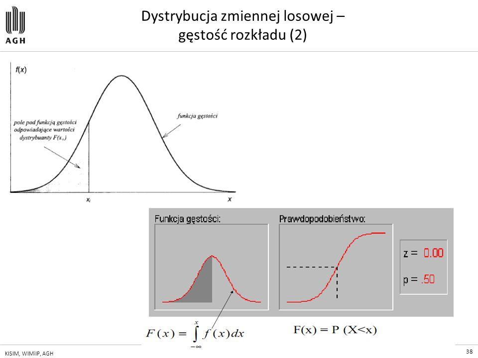 Dystrybucja zmiennej losowej – gęstość rozkładu (2)