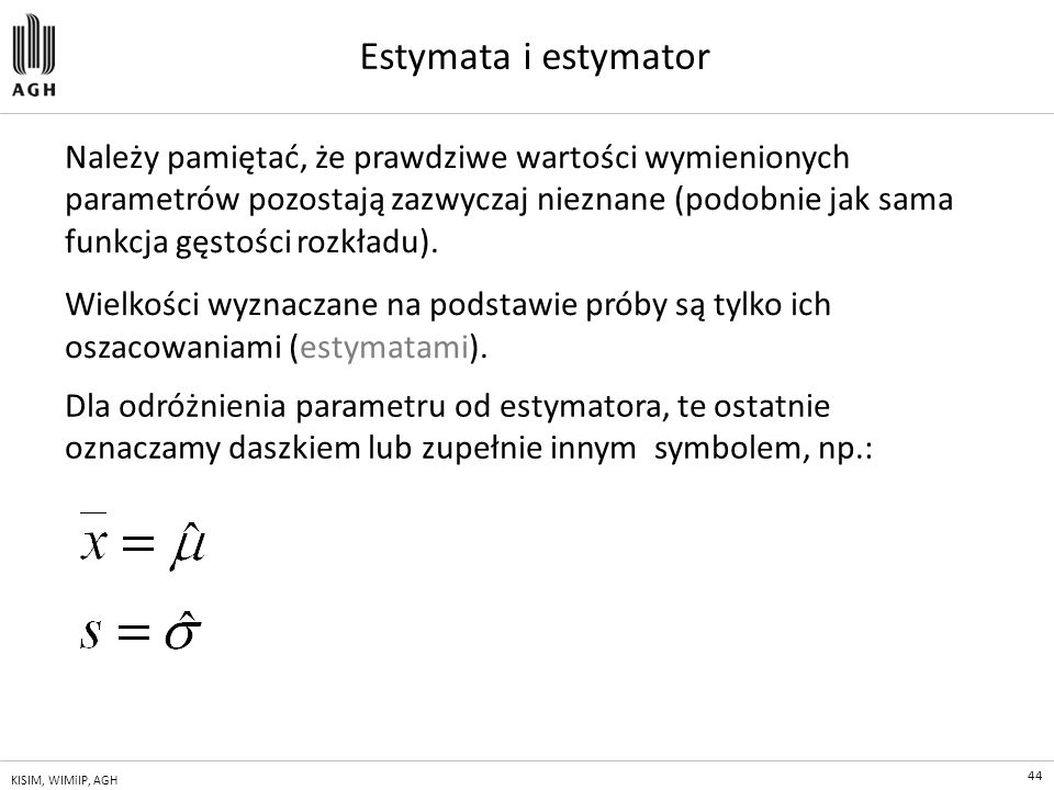 Estymata i estymator