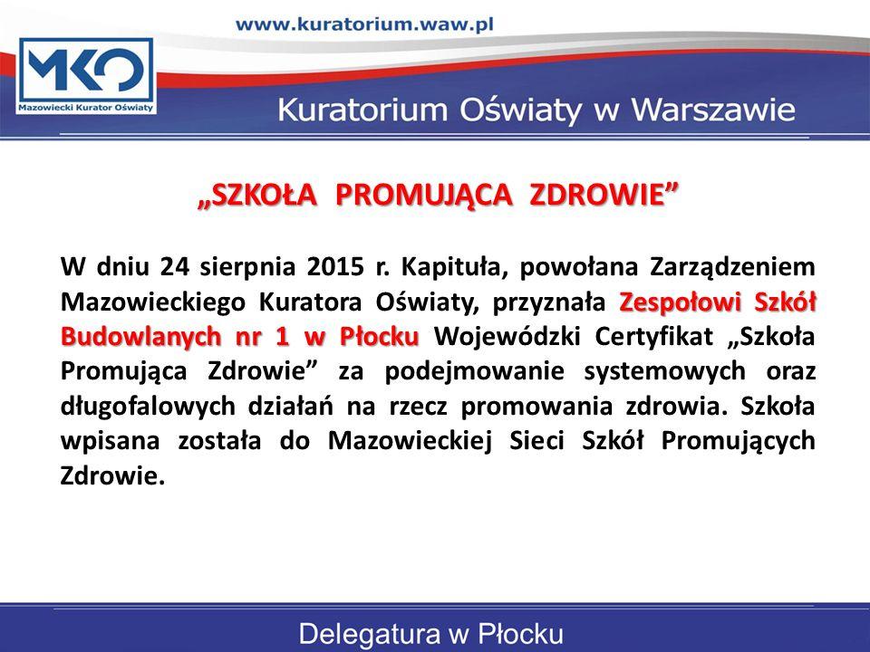 """""""SZKOŁA PROMUJĄCA ZDROWIE"""