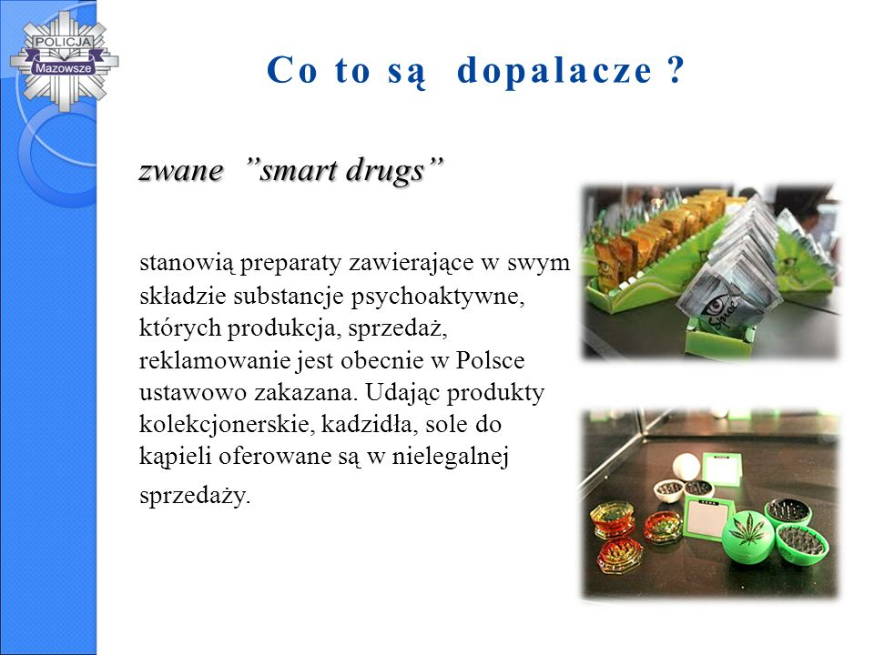 Co to są dopalacze zwane smart drugs