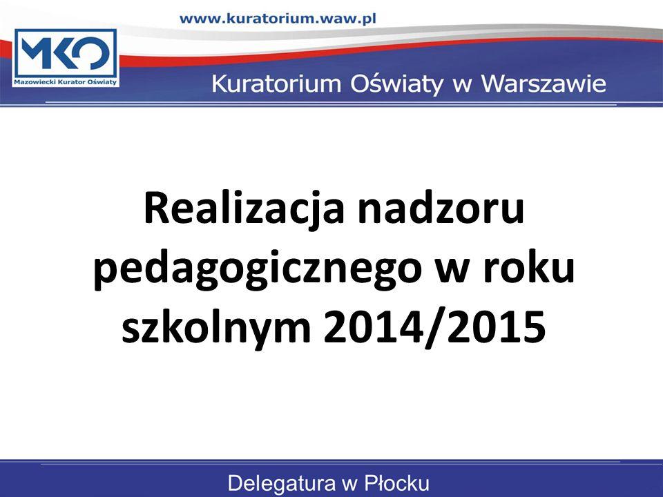 Realizacja nadzoru pedagogicznego w roku szkolnym 2014/2015