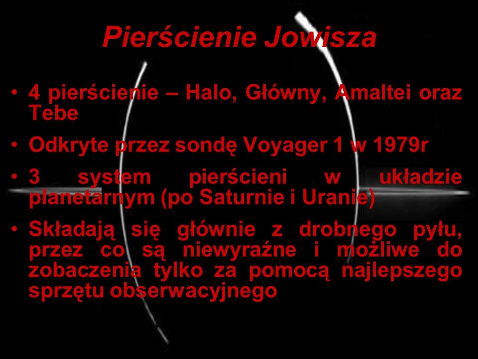 Pierścienie Jowisza 4 pierścienie – Halo, Główny, Amaltei oraz Tebe