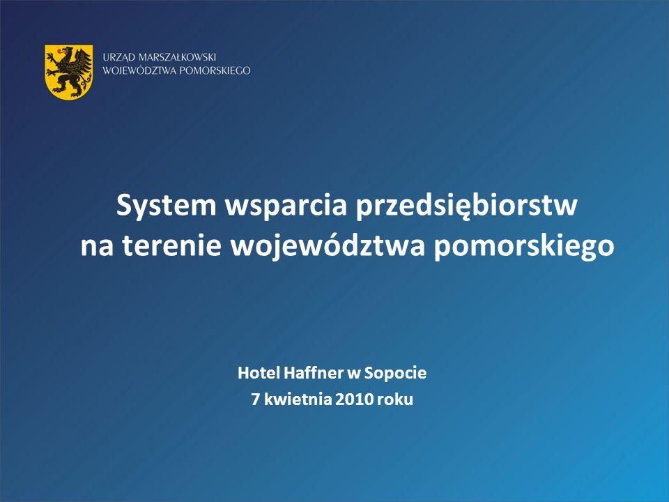 System wsparcia przedsiębiorstw na terenie województwa pomorskiego