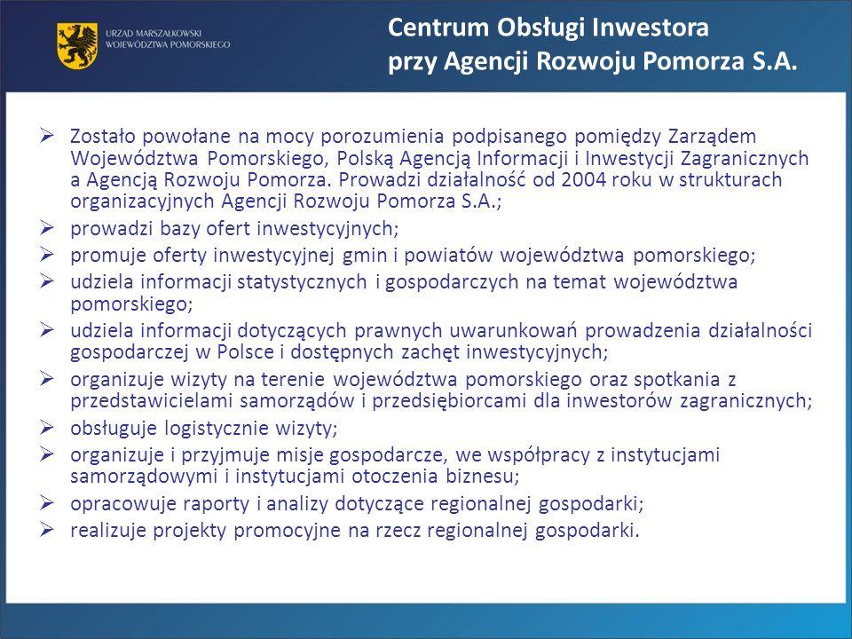 Centrum Obsługi Inwestora przy Agencji Rozwoju Pomorza S.A.